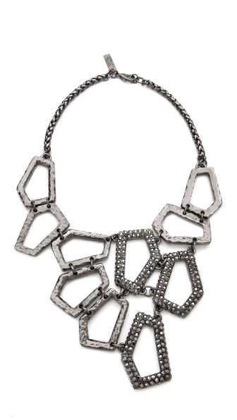 Robert Rodriguez Hex Linked Bib Necklace