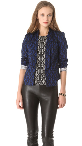 Robert Rodriguez Fleur de Lis Print Jacket