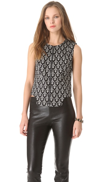 Robert Rodriguez Fleur de Lis Print Vest