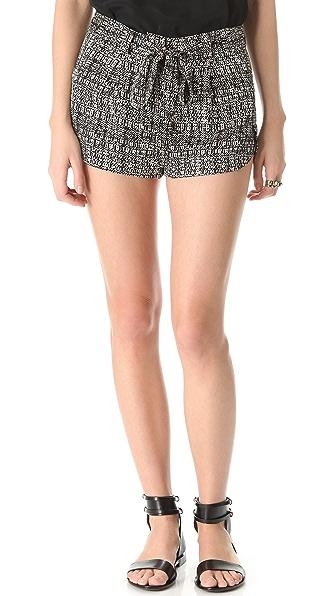 Robert Rodriguez Silk Tweed Print Shorts