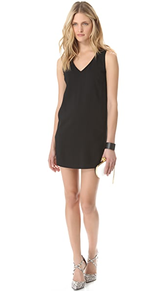 Robert Rodriguez Side Illusion Crepe Dress