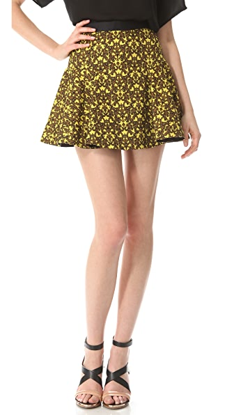 Robert Rodriguez Filigree Print Skirt