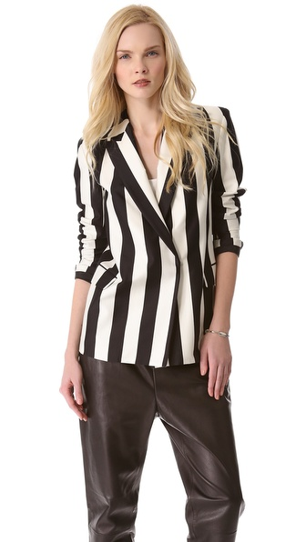 Robert Rodriguez Graphic Stripe Blazer