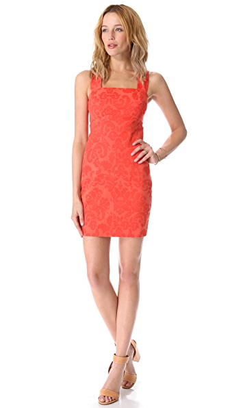 Robert Rodriguez Embossed Brocade Dress