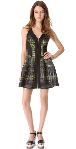 Robert Rodriguez Grid Print Dress