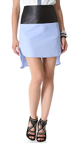 Robert Rodriguez Colorblock Shirttail Skirt