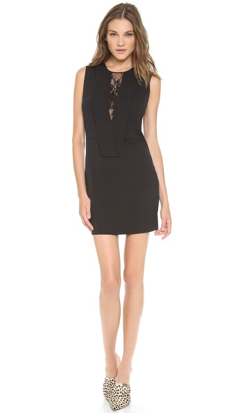 Robert Rodriguez Lace Illusion Dress