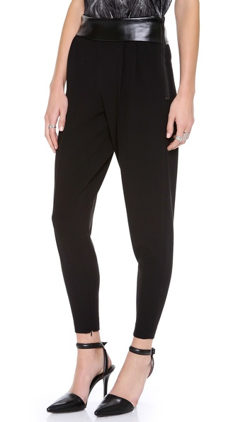 Robert Rodriguez Leather Waist Trousers