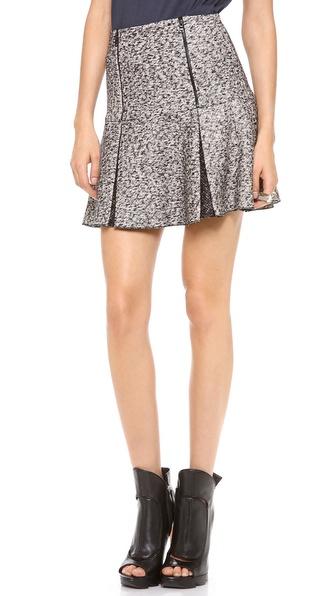 Robert Rodriguez Tweed Zip Flip Skirt