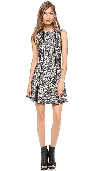 Robert Rodriguez Tweed Zip Flare Dress