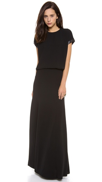 Robert Rodriguez Techno Crepe Gown