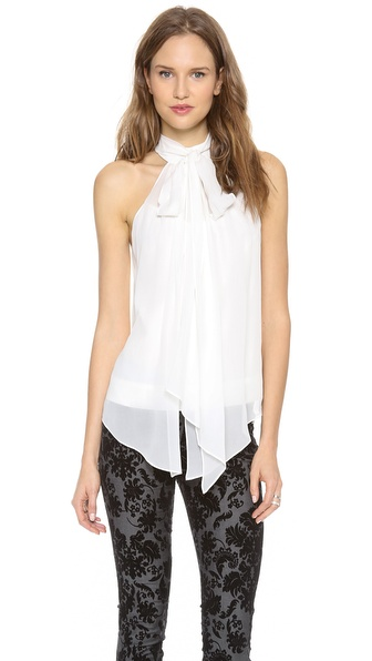 Robert Rodriguez Silk Tie Top