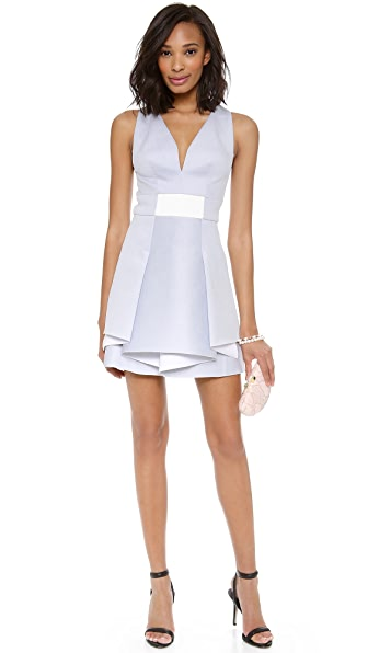 Robert Rodriguez Bonded Neo Flounce Dress