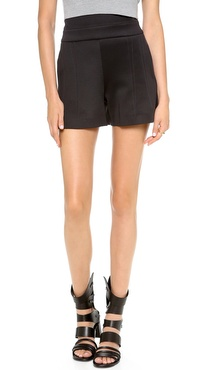 Robert Rodriguez Neoprene High Waisted Shorts