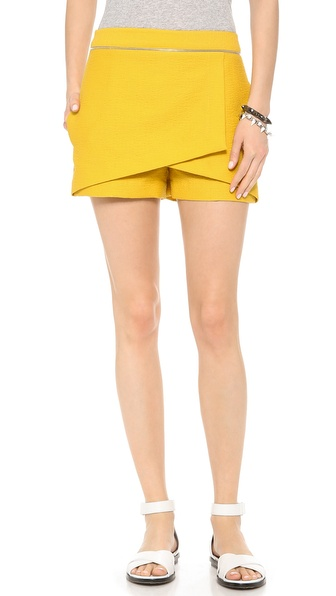 Robert Rodriguez Animal Jacquard Wrap Shorts