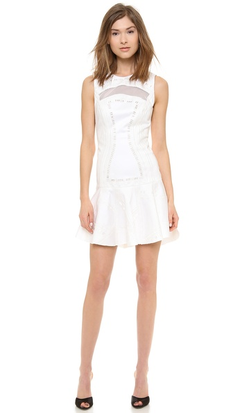 Robert Rodriguez Kuba Embroidered Dress - White