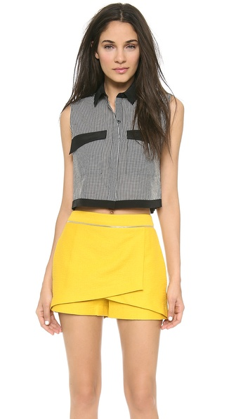 Robert Rodriguez Striped Crop Shirt