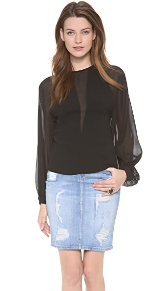 Robert Rodriguez Techno Illusion Crepe Blouse