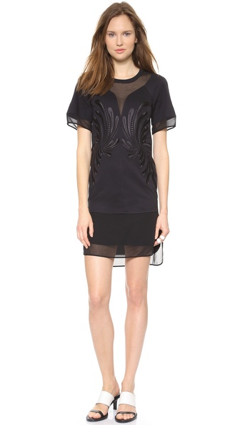 Robert Rodriguez Dandelion Embroidery Dress