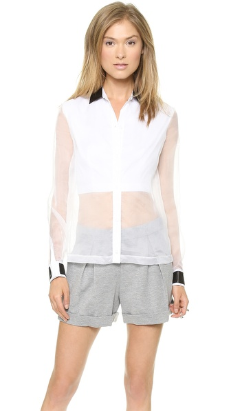 Robert Rodriguez Layered Organza Shirt