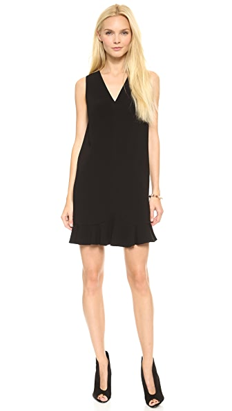 Robert Rodriguez Flounced Shift Dress