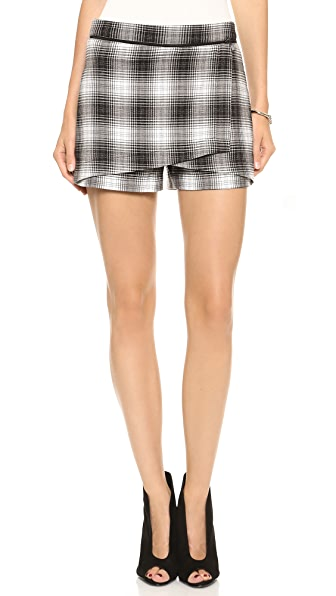 Robert Rodriguez Plaid Skort