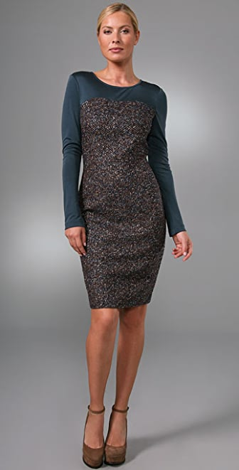 Rachel Roy Mix Media Dress