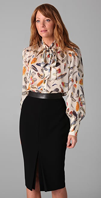 Rachel Roy Tie Neck Blouse