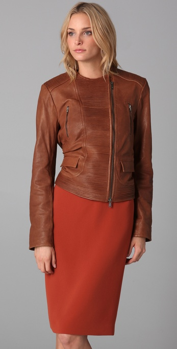 Rachel Roy Moto Leather Jacket