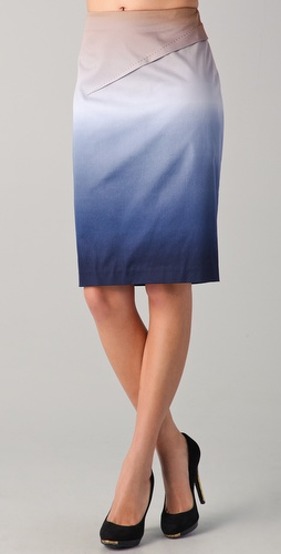Rachel Roy Ombre Pencil Skirt