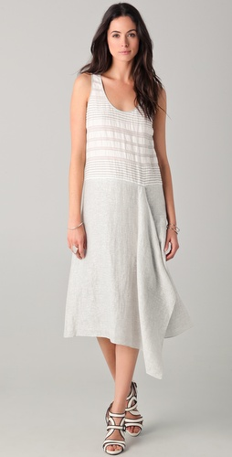 Rachel Roy Metallic Tie Back Midi Dress