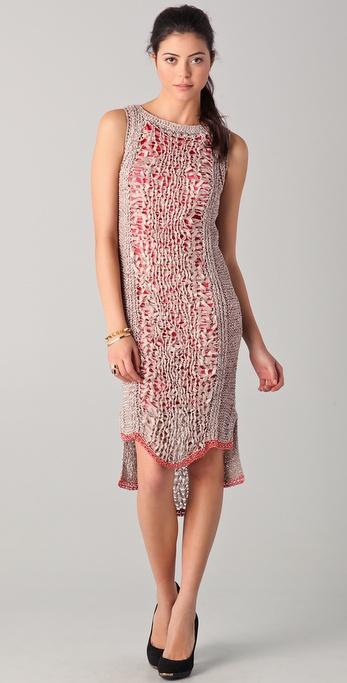 Rachel Roy Techno Tape Knit Dress