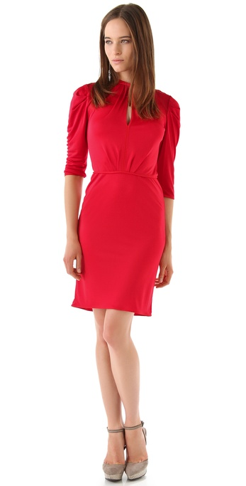 Rachel Roy Tuck Sleeve Jersey Dress