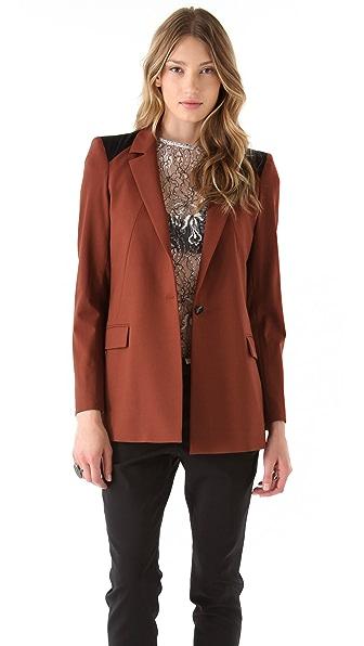 Rachel Roy Tropical Wool Tailored Jacket