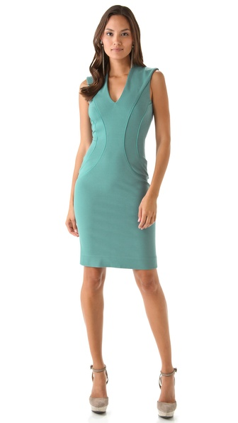 Rachel Roy Ponte V Neck Dress