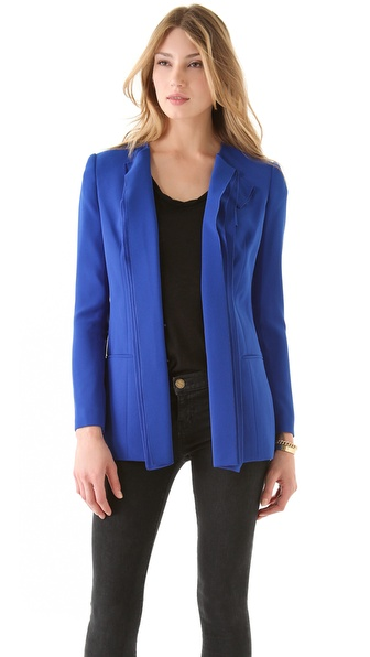 Rachel Roy Ruffle Crepe Blazer