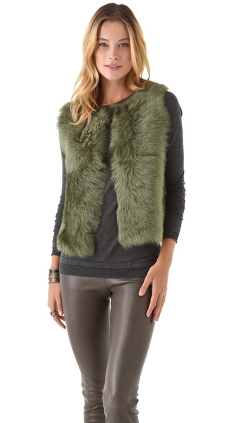 Rachel Roy Shearling Vest
