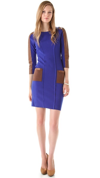 Rachel Roy Merino & Leather Dress