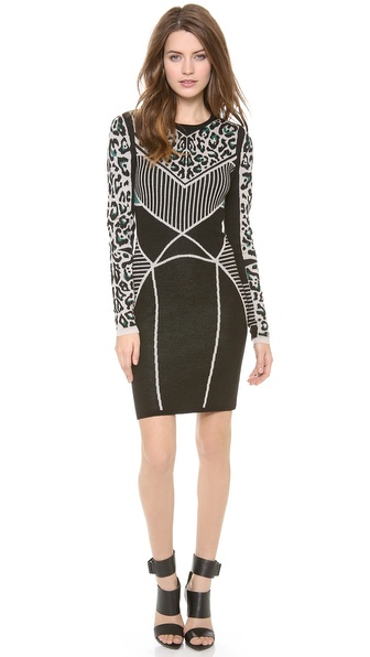 Rachel Roy Leopard Knit Dress