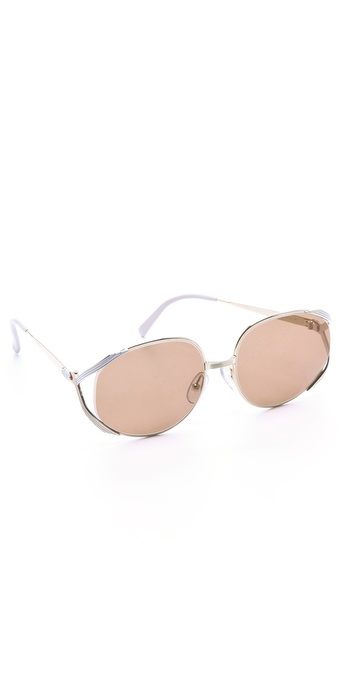 Retrosun Vintage Christian Dior Metal Sunglasses