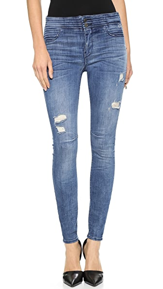 RtA High Waisted Pleated Jeans