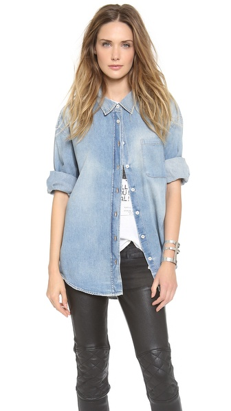 R13 Oversized Denim Shirt