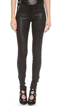 R13 Pull On Leather Leggings