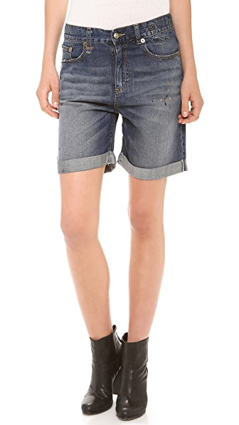 R13 Oversized Denim Shorts