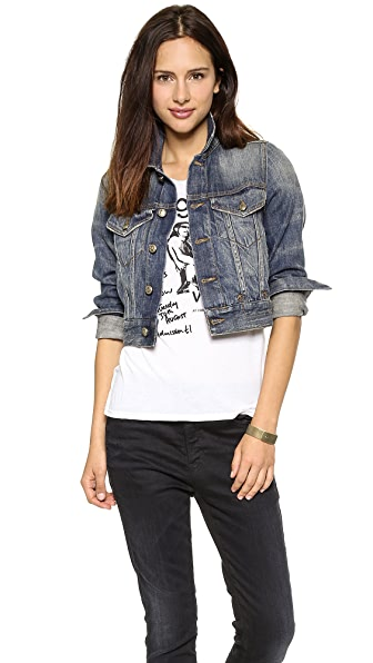 R13 Cropped Trucker Jacket