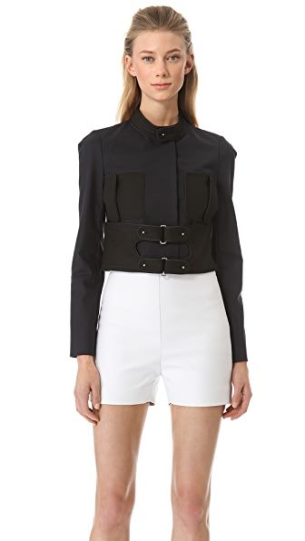 Rue du Mail Double Buckle Cropped Jacket