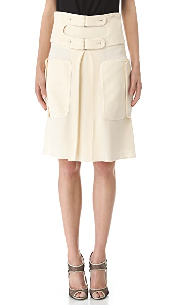 Rue du Mail Double Buckle Skirt