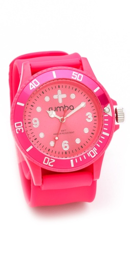 RumbaTime Neon Pink Perry Slap Watch
