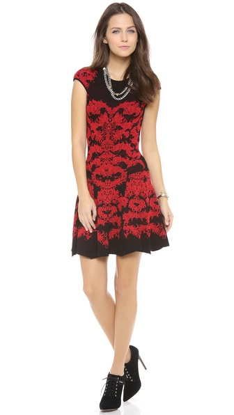 RVN Flame Lace Skater Dress