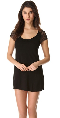 Samantha Chang Lingerie Lace Cap Sleeve Nightgown